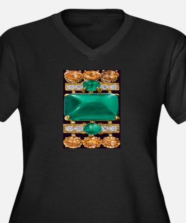 emerald_and_gold_art Plus Size T-Shirt