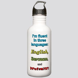 THREE LANGUAGES Stainless Water Bottle 1.0L