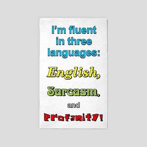 THREE LANGUAGES Area Rug