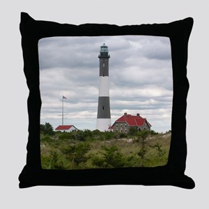 ROBERT_MOSES_STATE_PARK_LIGHTHOUSE_NY Throw Pillow
