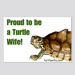 Proud to be a Turtle Wife Postcards (Package of 8)