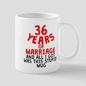36 Years Of Marriage Mugs