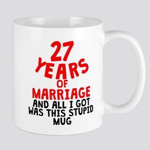 27 Years Of Marriage Mugs