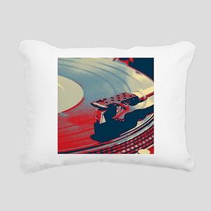 vintage retro record pla Rectangular Canvas Pillow