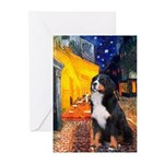 Cafe & Bernese Greeting Cards (Pk of 20)
