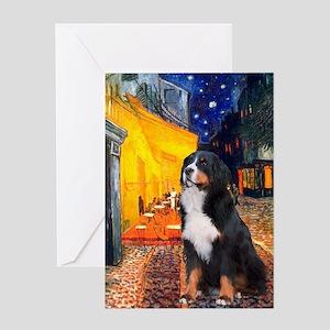 Cafe & Bernese Greeting Card