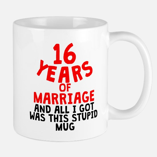 16 Years Of Marriage Mugs