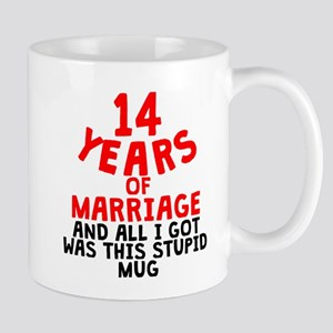 14 Years Of Marriage Mugs