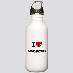 I love Wind Power Stainless Water Bottle 1.0L