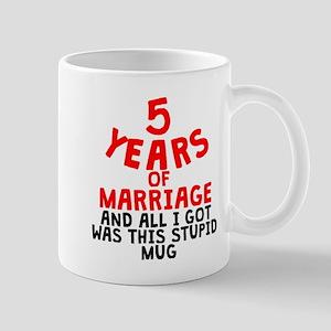 5 Years Of Marriage Mugs