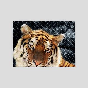 modern grunge cool tiger 5'x7'Area Rug