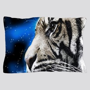 starring night white tiger Pillow Case