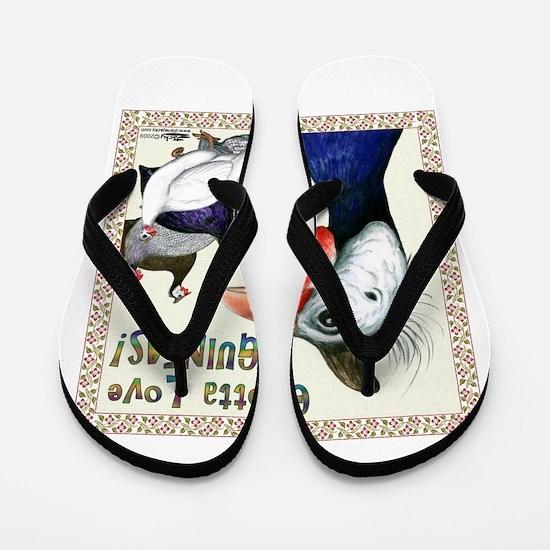 Gotta Love Guineas! Flip Flops