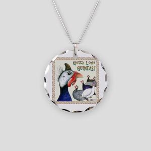 Gotta Love Guineas! Necklace Circle Charm