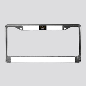 OSMTJ on Black Background License Plate Frame