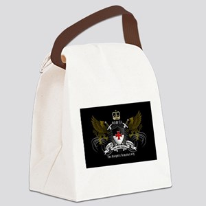 OSMTJ on Black Background Canvas Lunch Bag