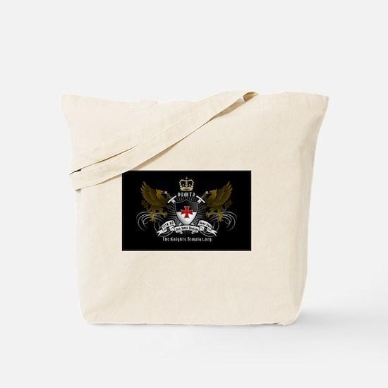 OSMTJ on Black Background Tote Bag