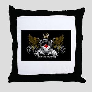 OSMTJ on Black Background Throw Pillow