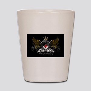 OSMTJ on Black Background Shot Glass