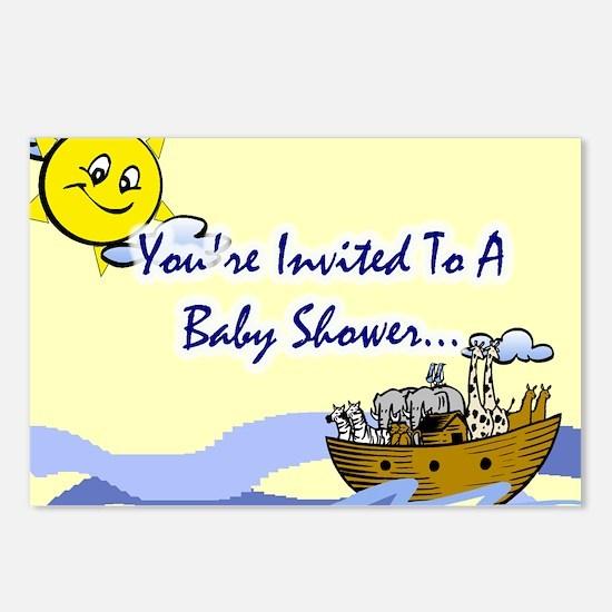 Noah's Ark Baby Shower Invite Postcards (Pkg of 8)