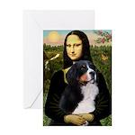 Mona's Bernese Mt. Dog Greeting Card