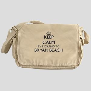Keep calm by escaping to Bryan Beach Messenger Bag