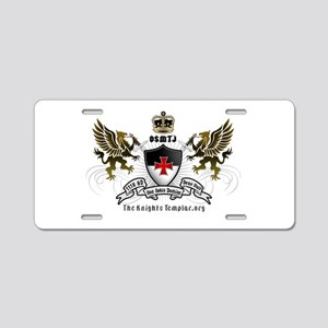 OSMTJ Logo on White Background Aluminum License Pl