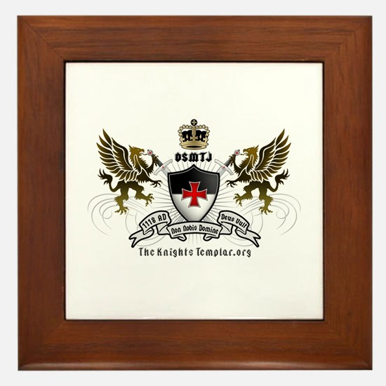 OSMTJ Logo on White Background Framed Tile