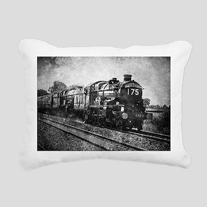 rustic vintage steam tra Rectangular Canvas Pillow