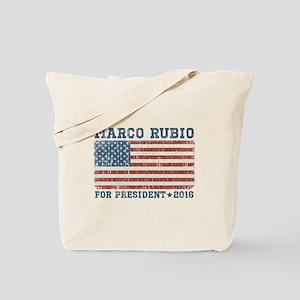Marco Rubio 2016 Vintage Flag Tote Bag