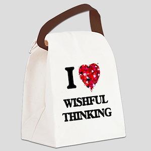 I love Wishful Thinking Canvas Lunch Bag