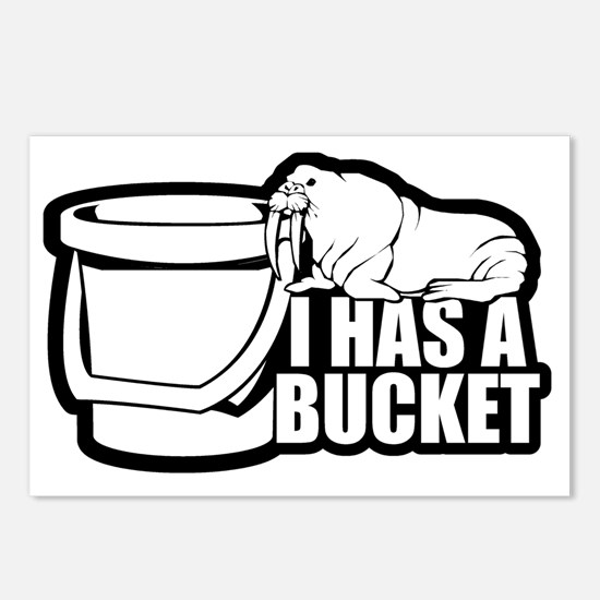 I Has a Bucket Walrus Postcards (Package of 8)