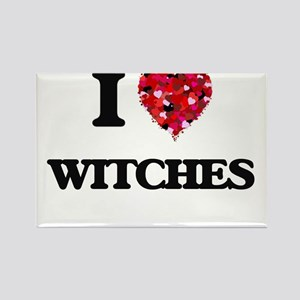 I love Witches Magnets