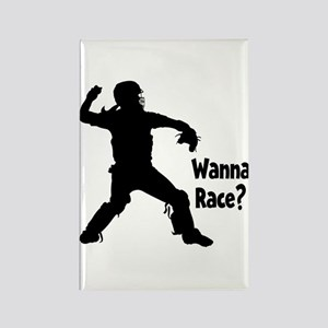 WANNA RACE? Rectangle Magnet