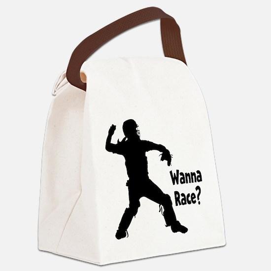 WANNA RACE? Canvas Lunch Bag