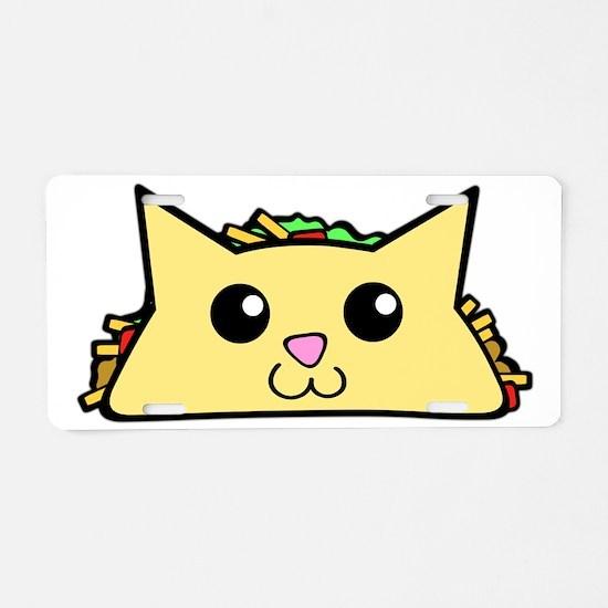 Taco Cat Aluminum License Plate