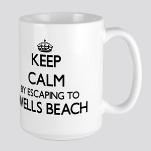 Keep calm by escaping to Wells Beach Maine Mugs