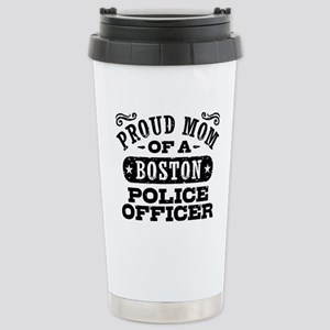 Proud Mom of a Boston P Stainless Steel Travel Mug