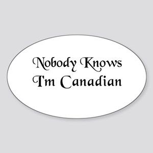 The Canadian Oval Sticker
