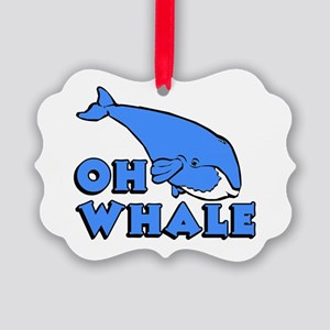 Oh Whale Picture Ornament