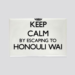 Keep calm by escaping to Honouli Wai Hawai Magnets