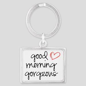 Good Morning Gorgeous Landscape Keychain