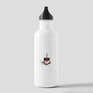Knights Templar Logo Stainless Water Bottle 1.0L