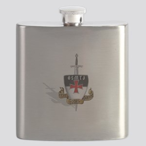 Knights Templar Logo Flask