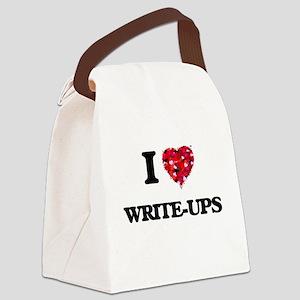 I love Write-Ups Canvas Lunch Bag