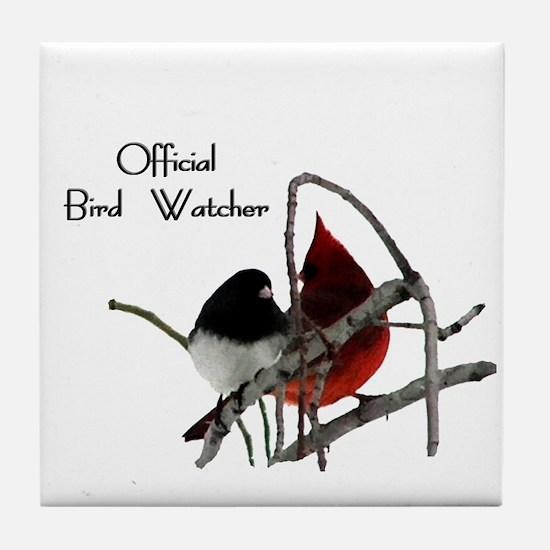 Official Bird Watcher Tile Coaster