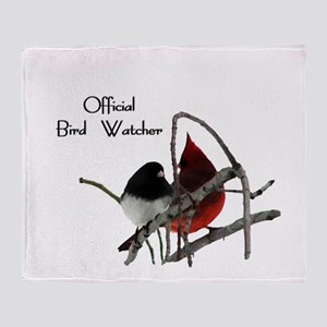 Official Bird Watcher  Throw Blanket