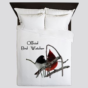 Official Bird Watcher Queen Duvet