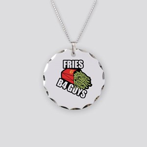 Fries Before Guys Necklace Circle Charm