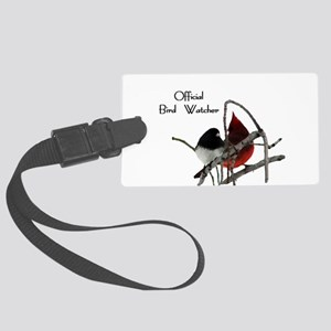 Official Bird Watcher Large Luggage Tag